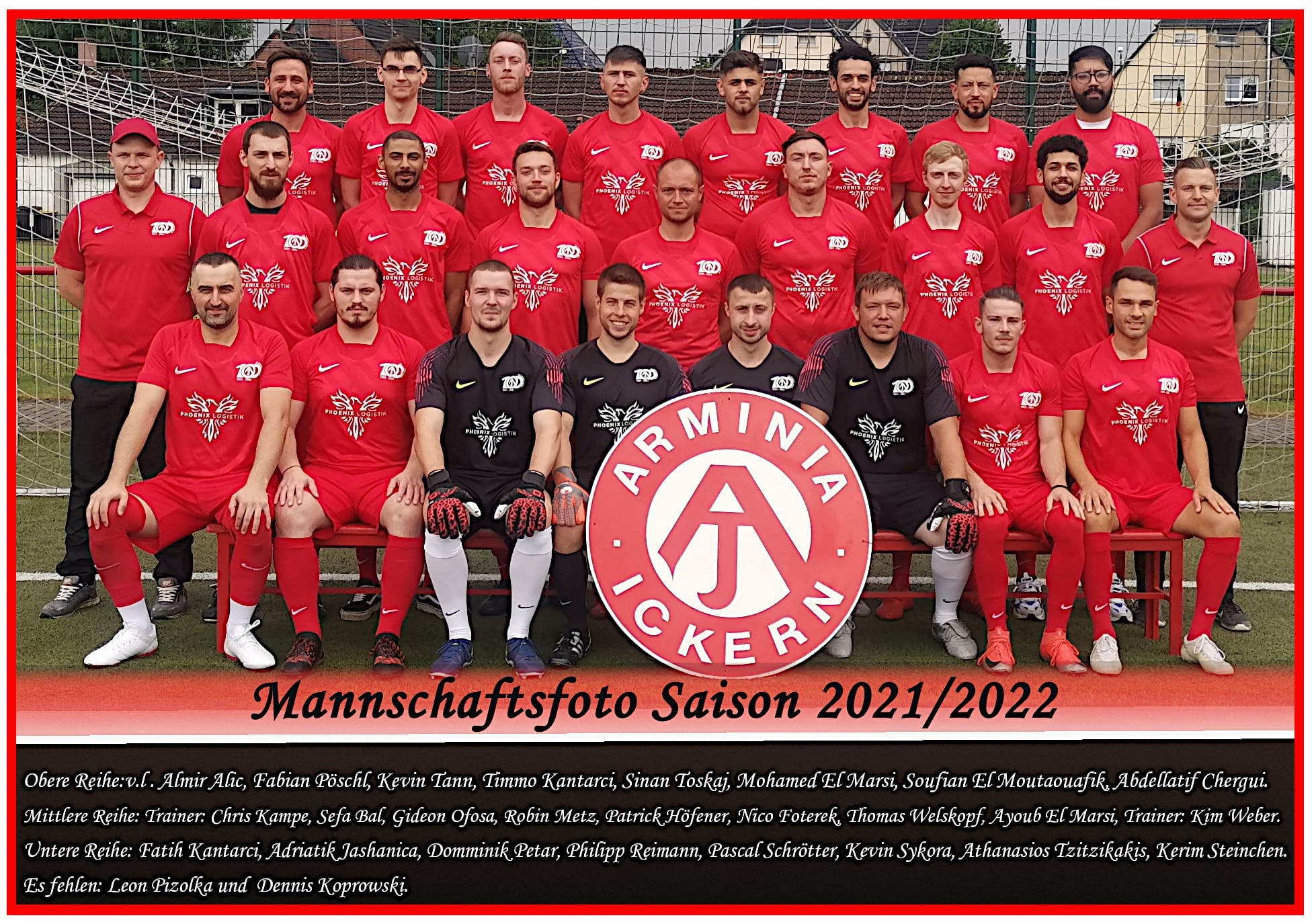 1. Mannschaft von SC Arminia Ickern